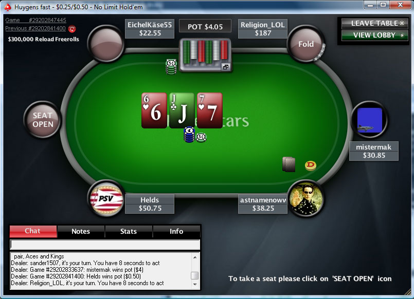 pokerstars client 1